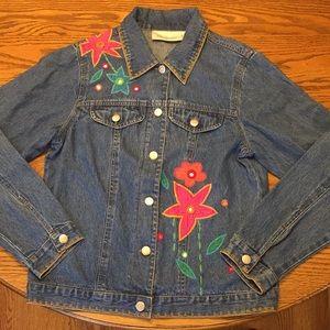 Vintage SUSAN BRISTOL floral embroidered denim